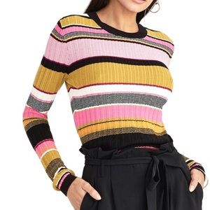 NWT Rachel Roy Kennedy Striped Pullover Sweater
